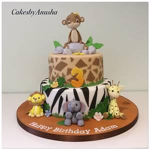 Monkey  - Cake by CakesbyAnusha