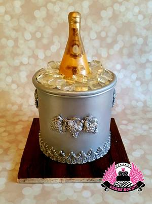 Cristal Champagne 21st Birthday - Cake by Cakes ROCK!!!