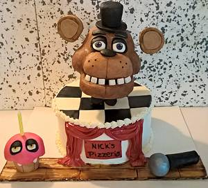 five nights at Freddys cake - Cake by  Pink Ann's Cakes
