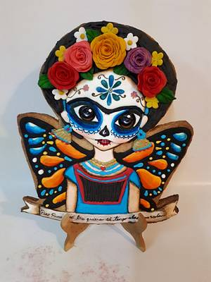 Frida Kahlo day of the death cookie - Cake by Laura Reyes