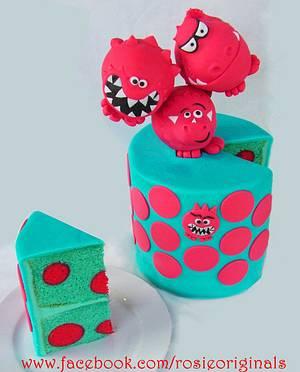 Comic Relief - Spotty Dotty - Cake by Rosie Cake-Diva