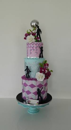 Disco party cake - Cake by Bistra Dean