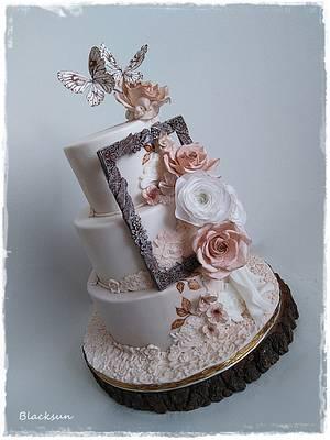 Wedding cake in beige - Cake by Zuzana Kmecova
