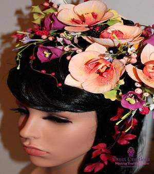 Belle Floral Headdress - Cake by Sweet Creations