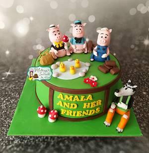 3 cute little piggies 🐷  - Cake by Melting Secrets by Kirti