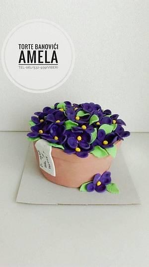 flower pot cake - Cake by Torte Amela