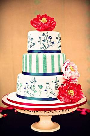 Oriental Wedding Cake - Cake by Ling KittyBakes