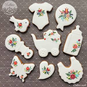 Folklore baby shower cookies - Cake by Folkies