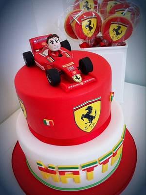 Ferrari F1 Cake - Cake by Bella's Bakery