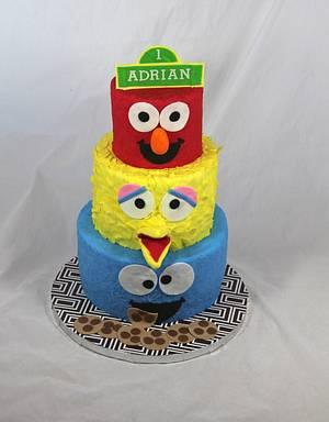 sesame street birthday cake - Cake by soods