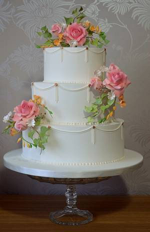 Royal Iced Wedding Cake - Cake by The Sweet Suite