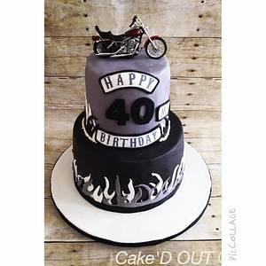 Biker birthday  - Cake by Jaclyn Dinko