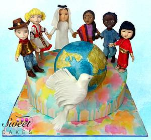 Cakes against Violence collaboration : kids of the world - Cake by Sweet Creations Cakes