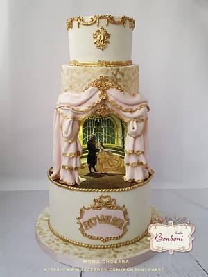beauty and the beast - Cake by mona ghobara/Bonboni Cake