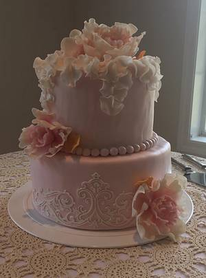 Pink Wedding cake - Cake by The Butterfly Baker