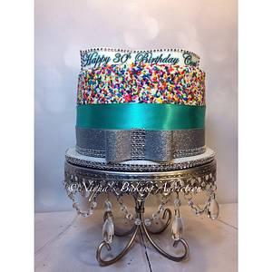 Sprinkles Cake - Cake by Cake'D By Niqua