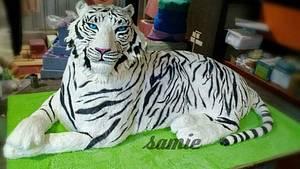 white tiger cake  - Cake by samie