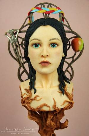 """Snow White Bust """"Snow White - The Grimm Obsession""""  - Cake by Jennifer Holst • Sugar, Cake & Chocolate •"""