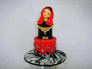Indian Bride  - Cake by Creamy Destination