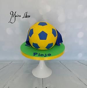 Soccer ball - Cake by Maira Liboa