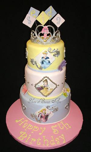 Disney Princess Birthday - Cake by Slice of Sweet Art