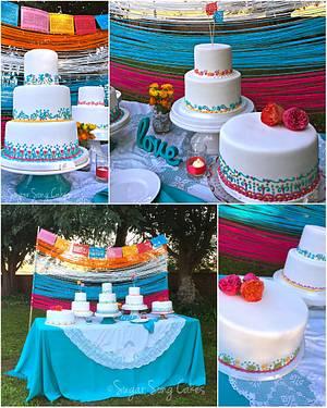 Fiesta Wedding Cake Table - Cake by lorieleann