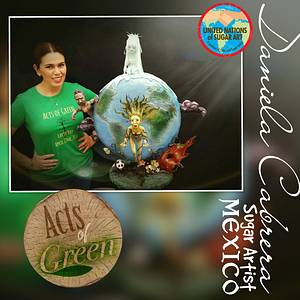 Acts of Green Collab  - Cake by daniela cabrera
