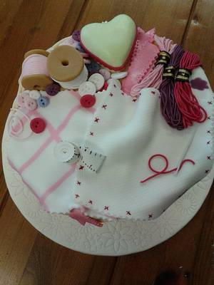 My sewing basket - Cake by SueC