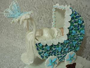 Christening cake for a little boy - Cake by Maggie