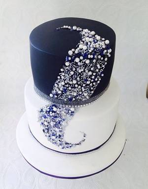 Beaded cake  - Cake by Missyclairescakes