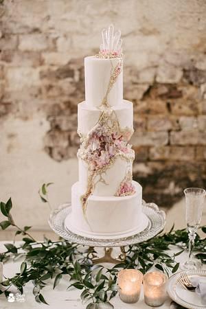 Kintsugi Crystal Geode Wedding Cake - Cake by Liz Marek