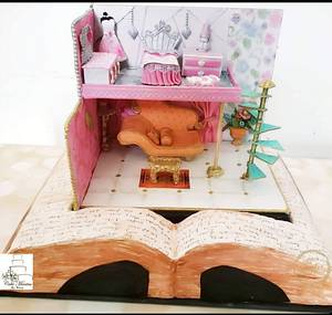 Fantasy World :  Cakerbuddies Miniature  Doll House Collaboration - Cake by Cakemantra By Mona