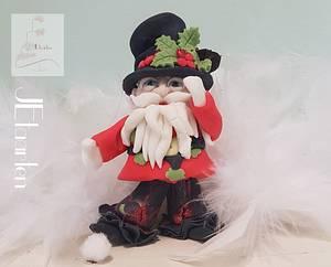 Christmas elf project unicorn  - Cake by Judith-JEtaarten