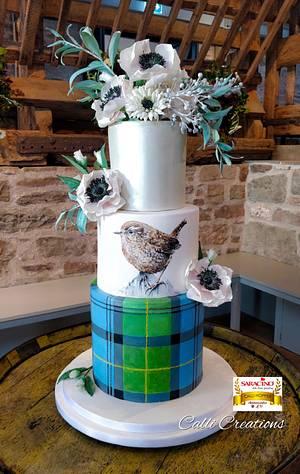 Scottish Wedding Cake - Cake by Calli Creations