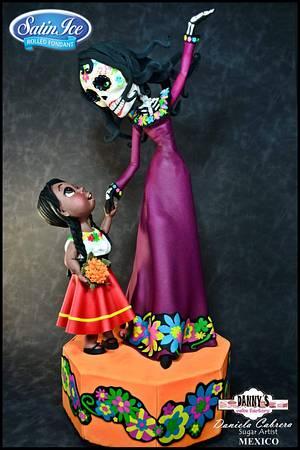 Collaboration Sugar Skull Bakers - Cake by daniela cabrera