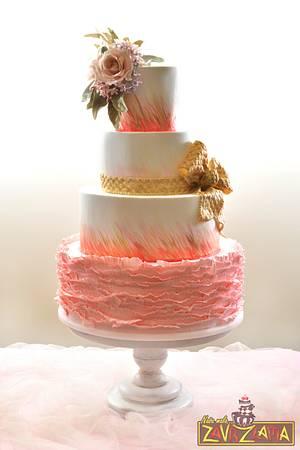 Elegant ruffle wedding cake - Cake by Nasa Mala Zavrzlama