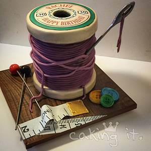 Cotton Reel - Cake by Caking it.