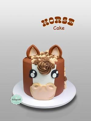 Torta Caballo - Cute horse cake - Cake by Dulcepastel.com