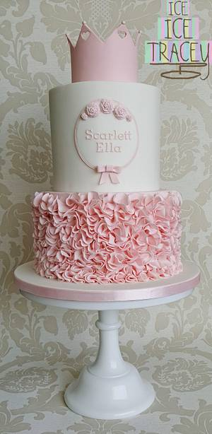 Scarlett's Christening - Cake by Ice, Ice, Tracey
