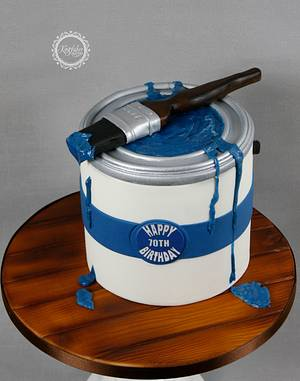 Paint Pot and Brush - Cake by kingfisher