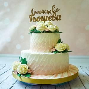 Buttercream wedding cake - Cake by Silviya Dimitrova