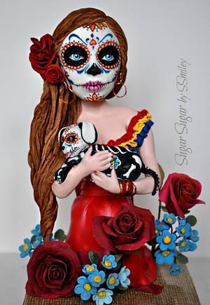 Dia de los Muertos - Sugar Skulls 2018 - Cake by Sandra Smiley
