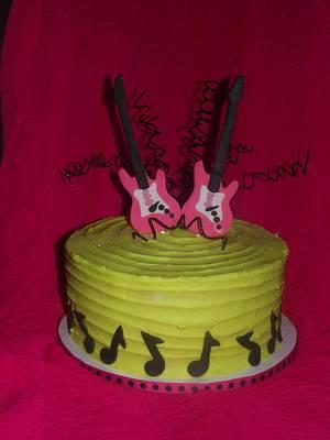 Rocker Girl Birthday Cake! - Cake by Jacque McLean - Major Cakes