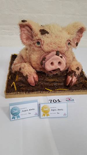 Happy as a pig in chocolate  - Cake by The Little Island Baker Cakes by Angela Roberts
