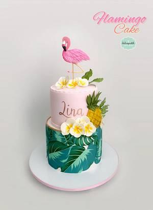 Torta Flamingo Cake - Cake by Dulcepastel.com