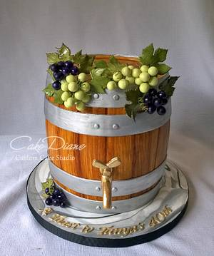 Wine barrel for Tanya - Cake by Diane