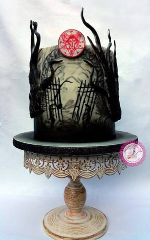 Enter at Your Own Risk - Penny Dreadful Cake Collaboration - Cake by Becca's Edible Art