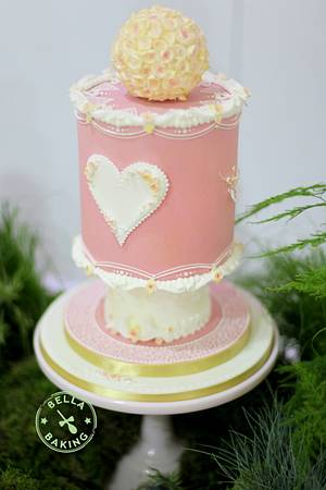 Hearts & Flowers Royal Iced Cake - Cake by Inga Ruby Cakes (formerly Bella Baking)