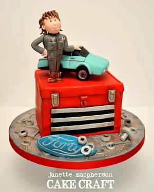 Car Mechanic 40th Birthday cake - Cake by Janette MacPherson Cake Craft