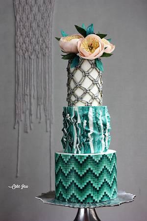BOHO GLAM WEDDING CAKE - Cake by Jessica MV